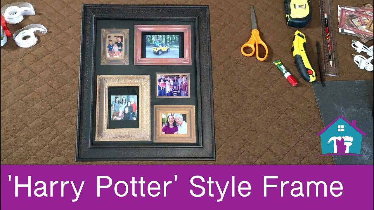 DIY Harry Potter Inspired Picture Frame - YouTube