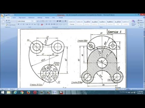 autocad 2D design practice examples(class-1)