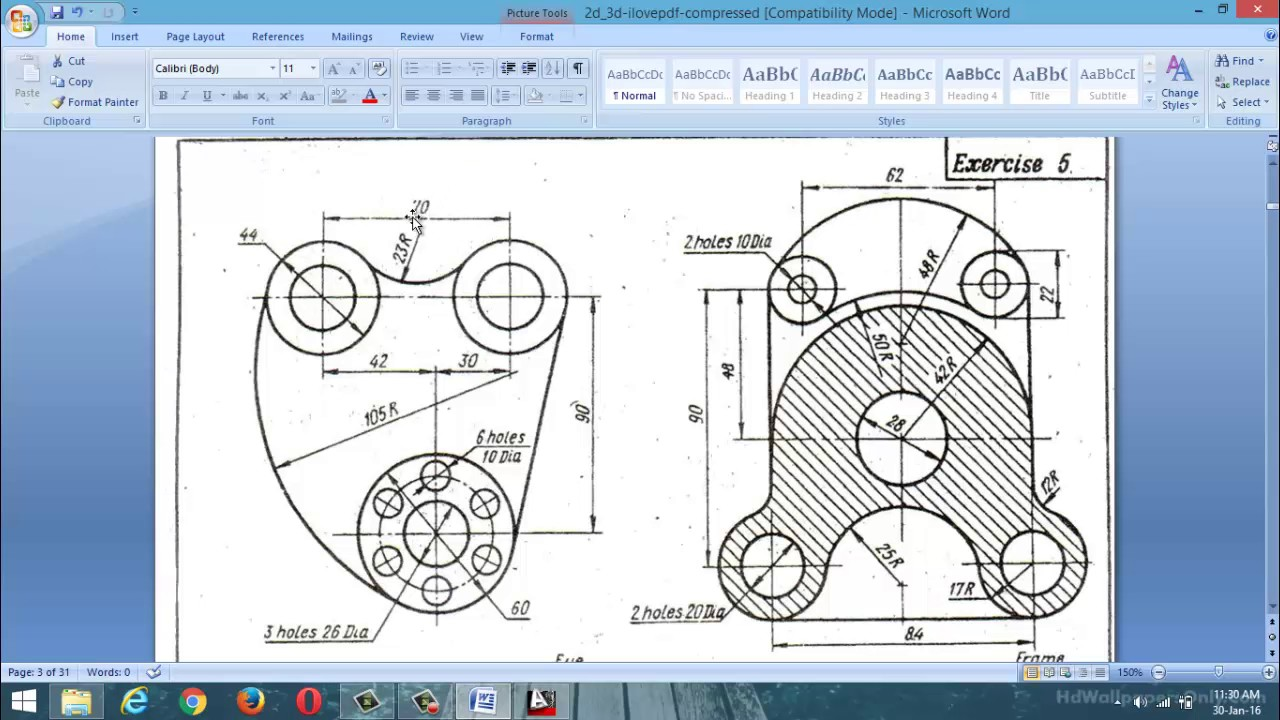 autocad 2d design practice examples class 1 youtube