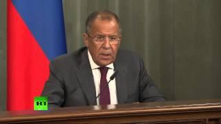 Пресс-конференция глав МИД России и Японии