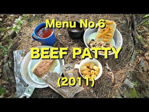 MRE Review: Menu No.6 Beef Patty (2011) Outdoor Review