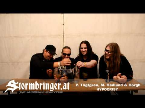 HYPOCRISY Interview with Peter Tägtgren, Mikael Hedlund & Horgh