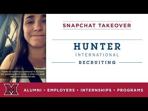 Nicole's Social Media Internship for Hunter International Recruiting in Avon, OH