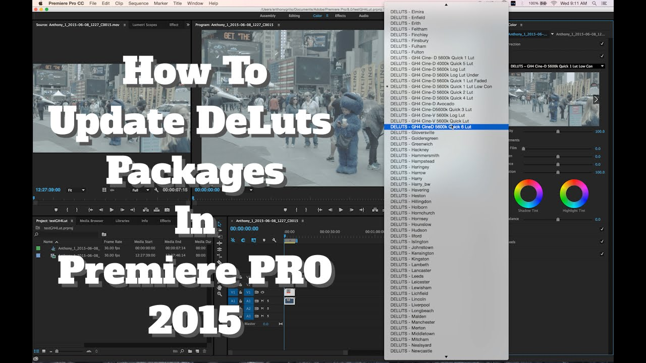 How To Update DeLuts Packages In Premiere Pro 2015