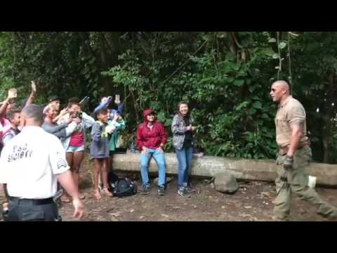 THE ROCK: Stop Filming To Greet Fans In Hawaii That Waited For Hours To Meet Him