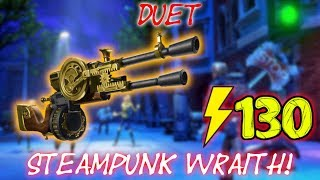 ⚡130 DUET REVIEW // STEAMPUNK WRAITH! | Fortnite Save the World