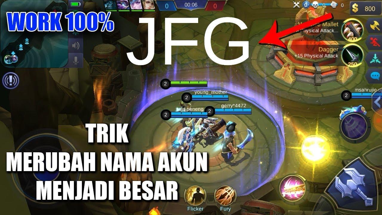 CARA MERUBAH NAMA AKUN MOBILE LEGENDS MENJADI BESAR || 100% work || Mobile Legends Indonesia #1