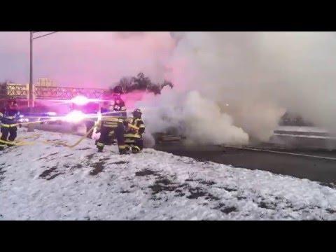 Roseland NJ Squad 2 Attacks Car Fire