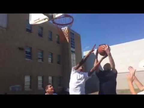 Barnum school basketball game