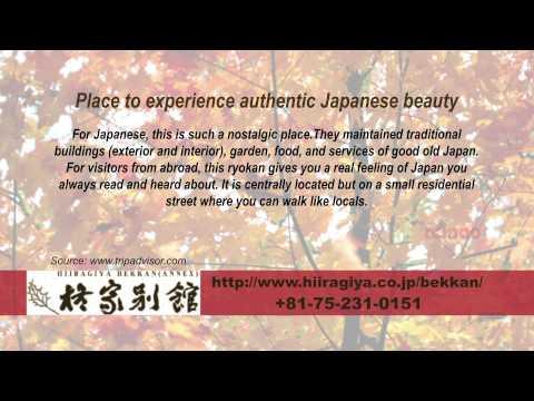 Hiiragiya Bekkan - REVIEWS - Kyoto Ryokan & Onsen Kyoto Reviews