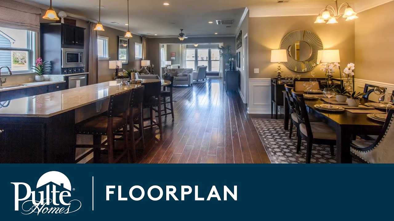 New Homes By Pulte Homes Martin Ray Floorplan Youtube