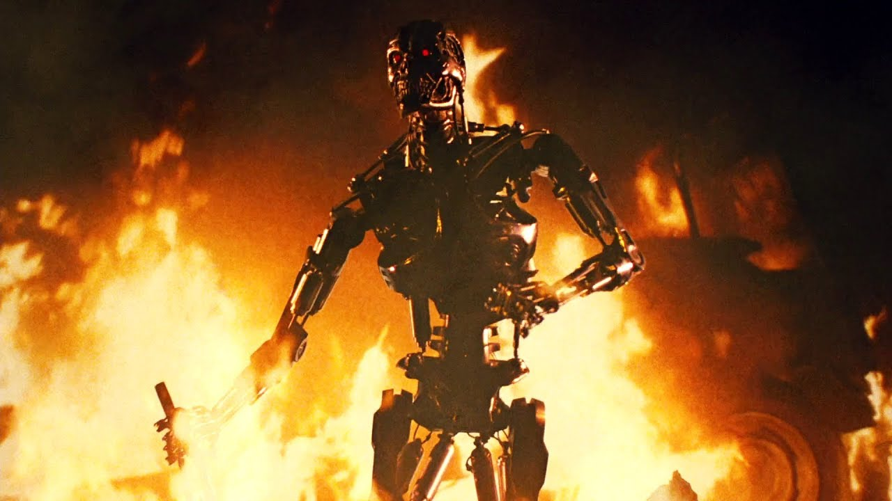 Download Sarah Connor and Kyle Reese vs T-800 Endoskeleton | The Terminator [Open Matte, Remastered]