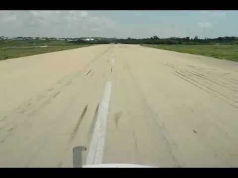 MD82 Landing in Mogadishu Main Airport Somalia