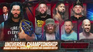 WWE Elimination Chamber 2021 Official and Full Match Card