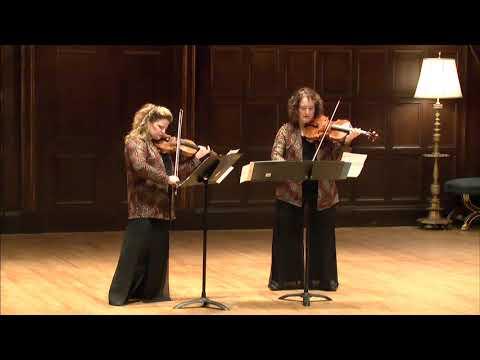 Roberto Sierra Duo Concertante, Renée Jolles, violin, and Carol Rodland, viola