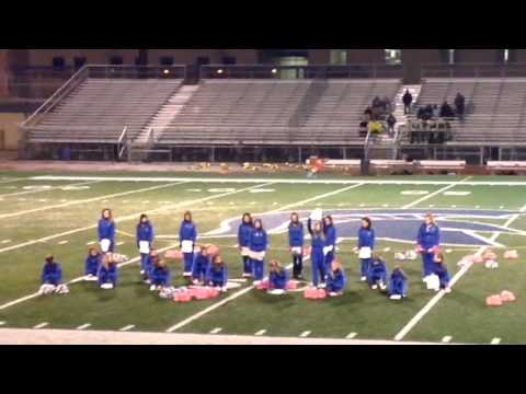 Harrold Middle School Cheerleaders Breast Cancer Halftime Routine Part 2