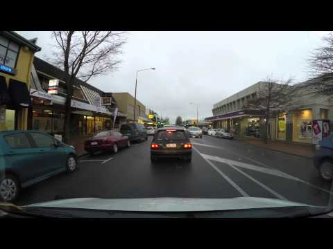 Driving in New Zealand: Riccarton Road, Christchurch 4K UHD