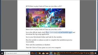 Play Clash of Clans on Mac/PC