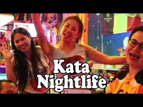 Phuket Nightlife: Kata Beach. Bars, Restaurants, Shopping & Street Food. Phuket Thailand