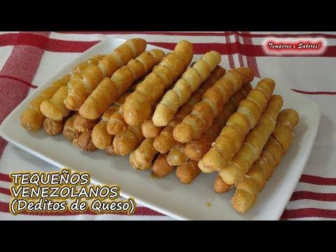 TEQUEÑOS VENEZOLANOS DEDITOS DE QUESO deliciosos