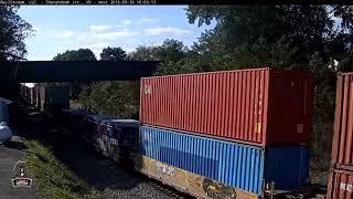 CSX ES44AH 3105 Intermodal Train At Shenandoah Junction, WV Railcam
