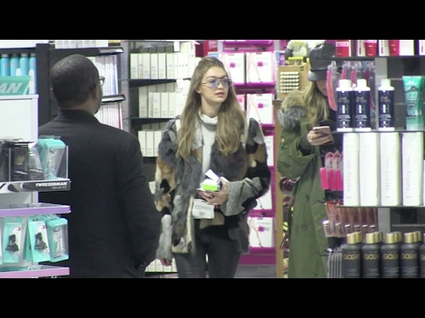 Model Gigi Hadid going to the Ricky's beauty shop in New York City.