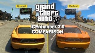 GTA IV: iCEnchancer 3.0 Mod - Graphics Comparison