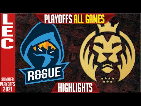 RGE vs MAD Highlights ALL GAMES   LEC Playoffs Summer 2021 Round 2   Rogue vs MAD Lions