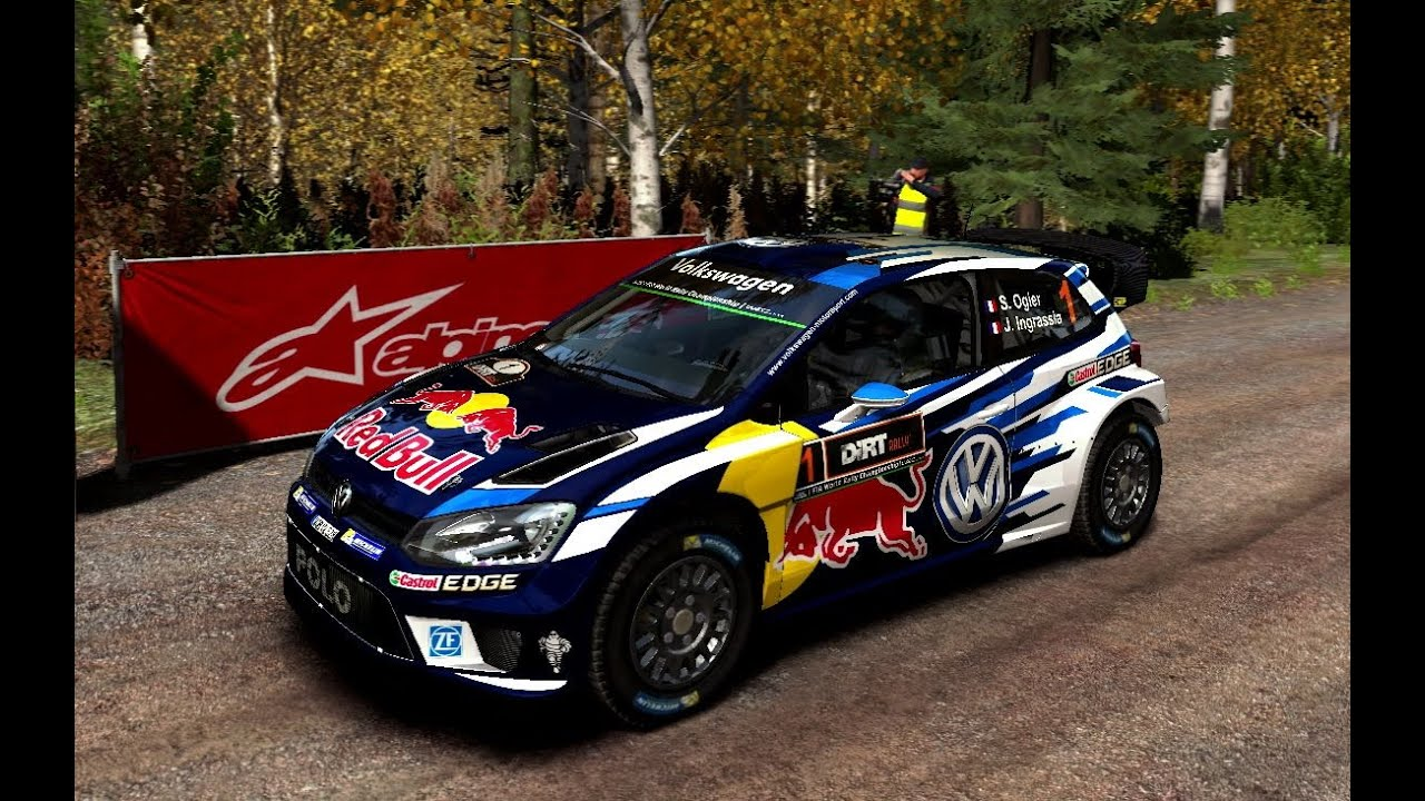 dirt rally flying finland ogier vw polo livery 2016. Black Bedroom Furniture Sets. Home Design Ideas