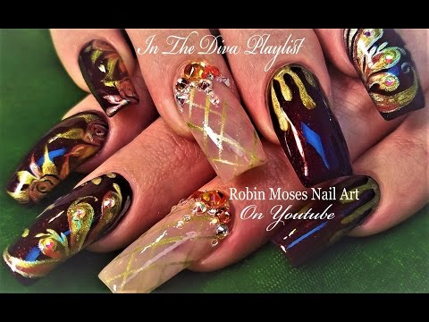 Bling Nail Art: Crystal Bling Nail Art Design Tutorial
