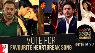 Favourite Heartbreak Song | YRF Viewer's Choice Awards | Vote & Win