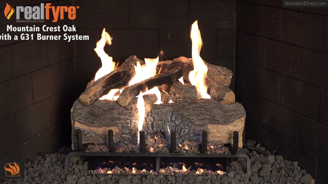 Mountain Crest Oak Vented Gas Logs With
