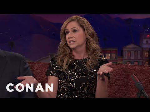 Jenna Fischer Used To Live Behind A Sex Shop   CONAN on TBS