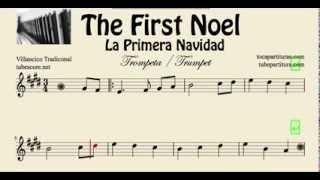 La Primera Navidad Partitura de Trompeta y Fliscorno The First Noel