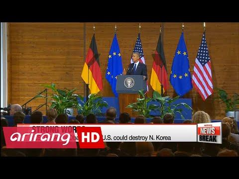 U.S. 'could destroy N. Korea,' but won't: Obama