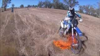 Husaberg FE (Fire Extinguisher) 570 Dirtbike Grass Fire