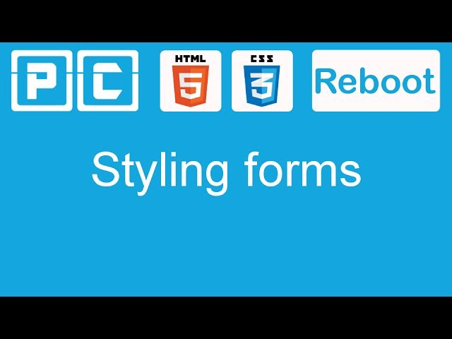 HTML5 and CSS3 beginners tutorial 51 - styling forms