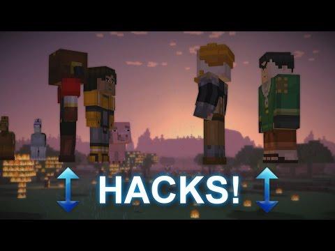 Minecraft Xbox Story Mode - FLYING HACKS EP4 P5