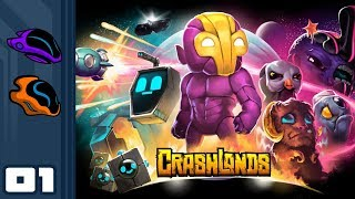 Let's Play Crashlands - Switch Gameplay Part 1 - Leave No Gnome Behind!