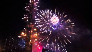 Burj Khalifa fireworks - NYE 2012 Dubai
