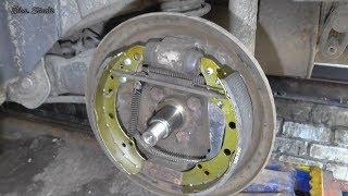 Замена задних тормозных колодок Skoda Fabia