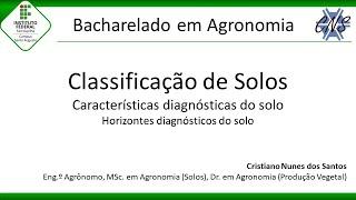 Aula de Classificação de Solos - Horizontes diagnósticos do solo - Agronomia