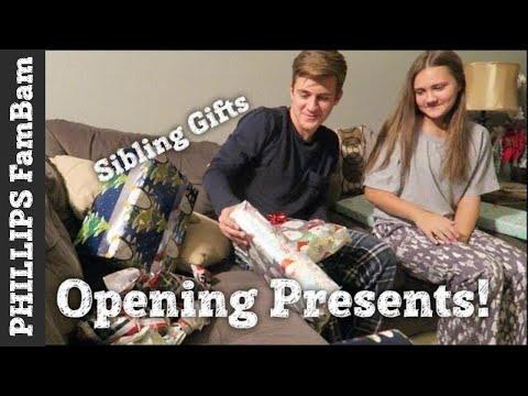 OPENING PRESENTS on CHRISTMAS EVE 2017 | SIBLING GIFT EXCHANGE | PHILLIPS FamBam