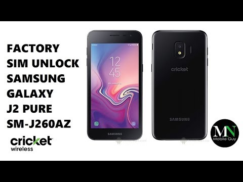 Sim Unlock Cricket Samsung Galaxy J2 Pure For Use On Gsm Carriers