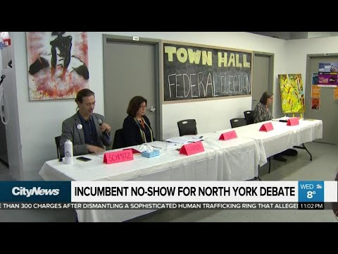 Incumbent no-show for North York debate