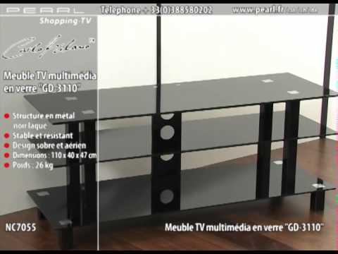 nc7055 meuble tv multimedia en verre gd 3110