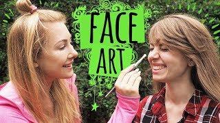 Malowanie na twarzy  FACE ART z Madeline Gavi