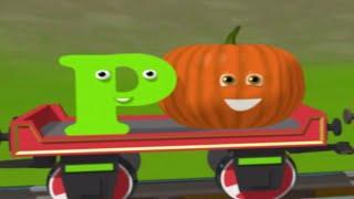 Развивающие мультфильмы для детей - Паровозик Шонни и тыква. Английская Буква P.