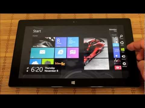 microsoft surface tablet with windows rt video review