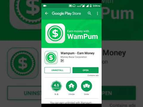 Wampum App unlimited free Paytm cash earn with Live payment proof Hindi video